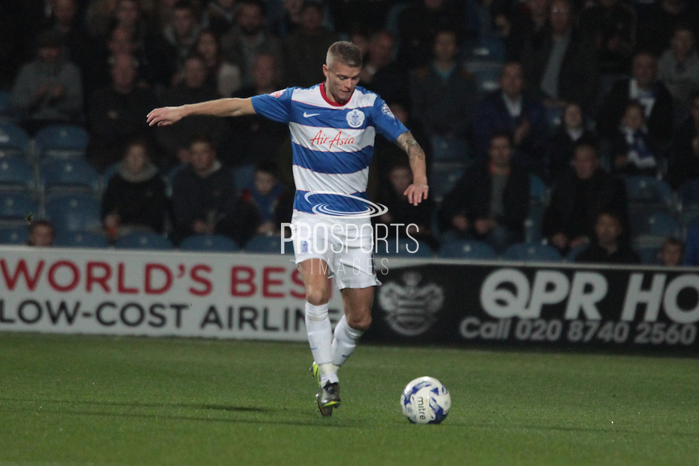 Queens Park Rangers defender Paul Konchesky during the Sky Bet Championship match between Queens Park Rangers and Sheffield Wednesday at the Loftus Road Stadium, London, England on 20 October 2015. Photo by Jemma Phillips.
