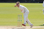 Liam Trevaskis bowling during the Specsavers County Champ Div 2 match between Durham County Cricket Club and Leicestershire County Cricket Club at the Emirates Durham ICG Ground, Chester-le-Street, United Kingdom on 21 August 2019.