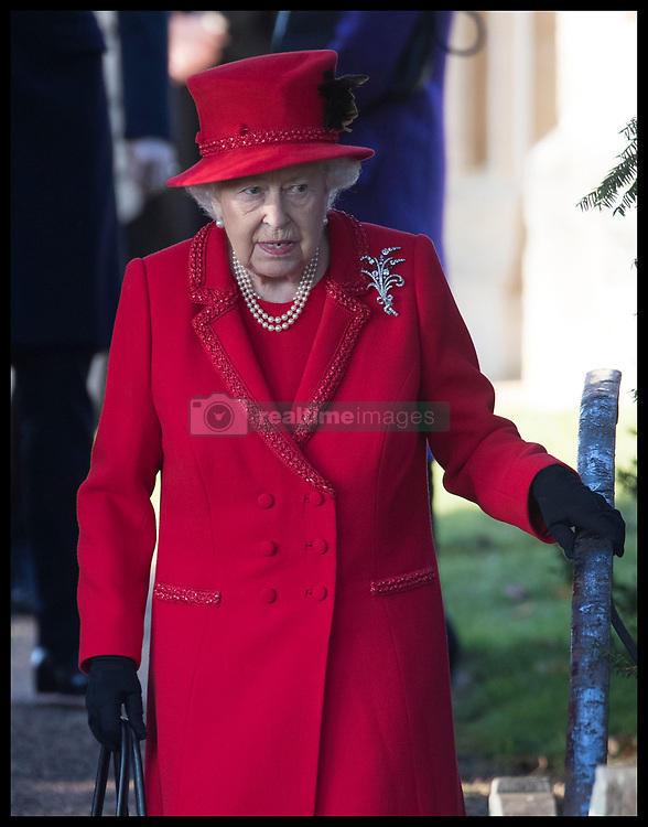 December 25, 2019, Sandringham, United Kingdom: Image licensed to i-Images Picture Agency. 25/12/2019. Sandringham, United Kingdom. Queen Elizabeth II  leaving the Christmas Day church service at Sandringham in Norfolk, United Kingdom. (Credit Image: © Stephen Lock/i-Images via ZUMA Press)