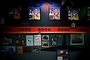 "Portraits of pilots who died while flying the U2 line a wall in the U2 pilots' ""Heritage Room"" at Beale Air Force Base February 23, 2010 in Linda, Calif."