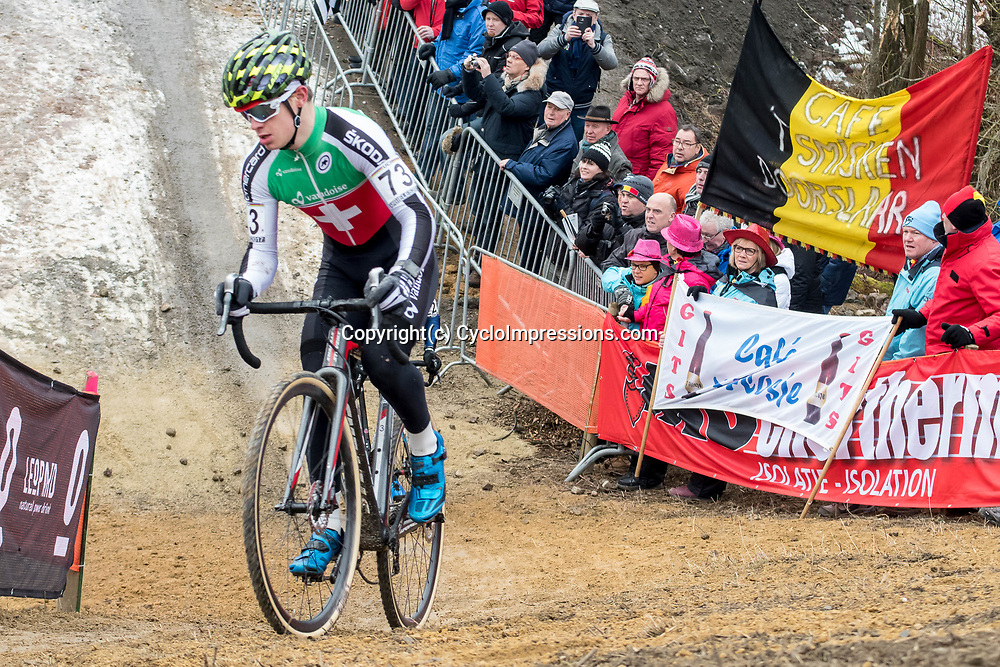 28-01-2017: Wielrennen: Wereldkampioenschap veldrijden: Luxemburg<br /> BIELES (LUX) cyclocross: Loris Rouiller