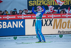 10.01.2015, Kulm, Bad Mitterndorf, AUT, FIS Ski Flug Weltcup, Bewerb, im Bild Severin Freund (GER, 1. Platz) // reacts after his Competition Jump of the FIS Ski Flying World Cup at the Kulm, Bad Mitterndorf, Austria on 2015/01/10, EXPA Pictures © 2015, PhotoCredit: EXPA/ Dominik Angerer