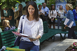 June 23, 2017 - Rome, Italy - The Mayor of Rome Virginia Raggi inaugurates the new Refreshment Point of  Fori Imperiali Tourist Information Point and presents the tourism data in the capital of the early 2017 in Rome, Italy on June 23, 2017. (Credit Image: © Giuseppe Ciccia/NurPhoto via ZUMA Press)