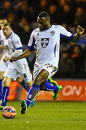Nathan Cameron of Bury during the The FA Cup match at Kenilworth Road, Luton<br /> Picture by David Horn/Focus Images Ltd +44 7545 970036<br /> 16/12/2014