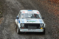 #153 Vince Sillett / Terry Luckings Ford Escort Bolton-le-Moors Wallace Contractors Ltd during Neil Howard Memorial Stage Rally, and opening round of the 2015 Motorsport News Rally Championship.  at Oulton Park, Little Budworth, Cheshire, United Kingdom. November 07 2015. World Copyright Peter Taylor. Copy of publication required for printed pictures.  Every used picture is fee-liable. http://archive.petertaylor-photographic.co.uk