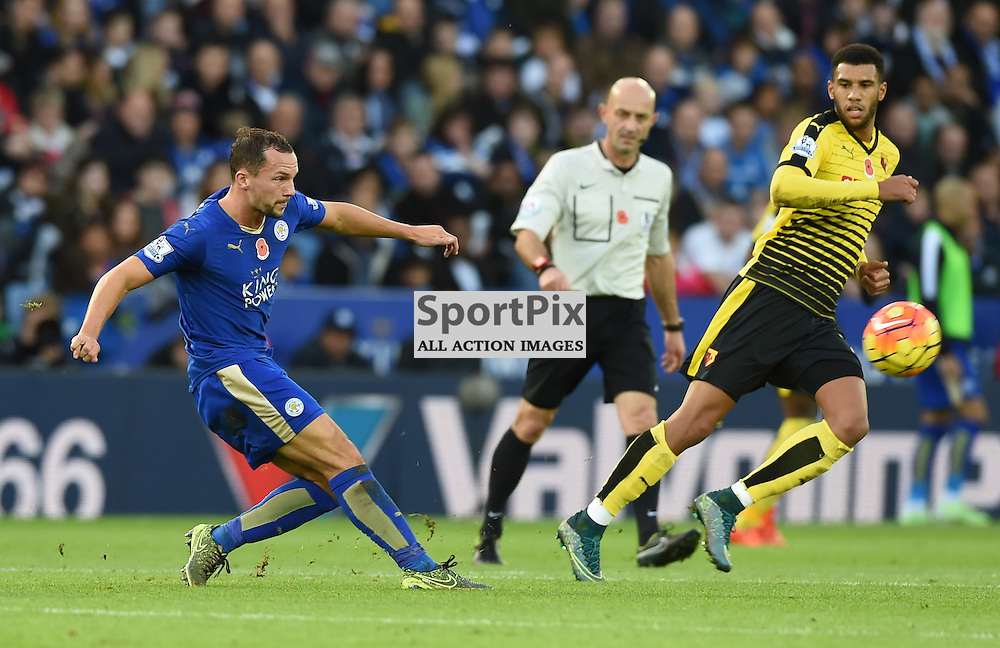 Danny Drinkwater trys to find a way through the Watford defence (c) Simon Kimber | SportPix.org.uk