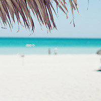 A beautiful day on a Cuban beach, turquoise sea and white sand