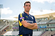 Portrait of Kyle Abbott during the Hampshire CCC photo call 2017 at  at the Ageas Bowl, Southampton, United Kingdom on 12 April 2017. Photo by David Vokes.