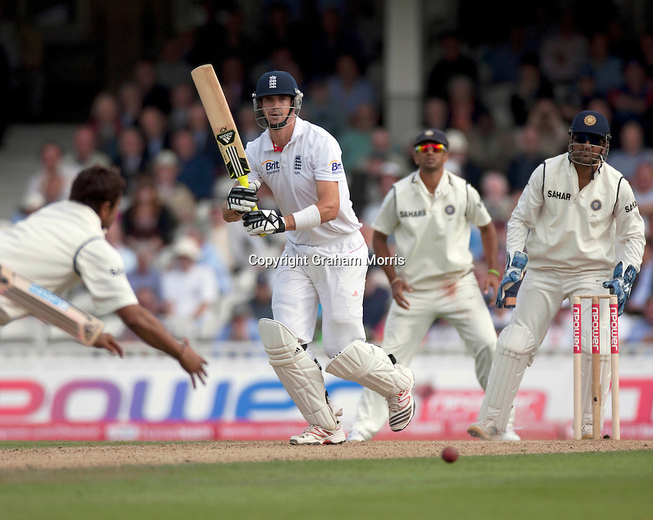 Kevin Pietersen bats during his century in the fourth and final npower Test Match between England and India at the Oval, London.  Photo: Graham Morris (Tel: +44(0)20 8969 4192 Email: sales@cricketpix.com) 19/08/11