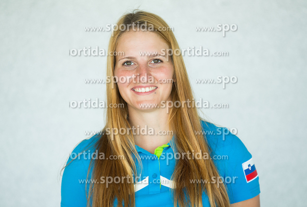 Ana Umer, archery during presentation of Slovenian Team for Baku 2015 European Games,  on June 4, 2015 in Koper, Slovenia. Photo by Vid Ponikvar / Sportida