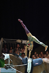 Pascale Wagner, (SUI), Siegfried, Michael Heuer - Individuals Women Freestyle Vaulting - Alltech FEI World Equestrian Games™ 2014 - Normandy, France.<br /> © Hippo Foto Team - Jon Stroud<br /> 03/09/2014
