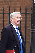Defence Secretary Michael Fallon arrives at the UK Cabinet meeting at Downing Street, London.<br /> Picture by Paul Davey/Focus Images Ltd +447966 016296<br /> 08/03/2016