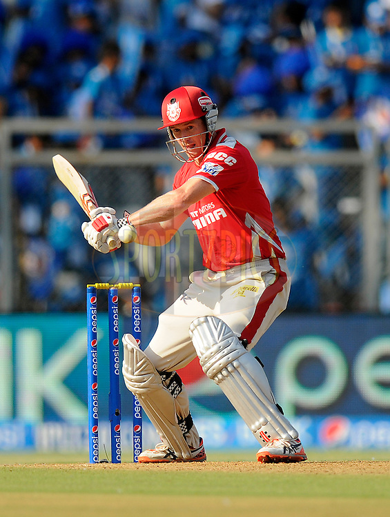 George Bailey of the Kings X1 Punjab bats during match 22 of the Pepsi Indian Premier League Season 2014 between the Mumbai Indians and the Kings XI Punjab held at the Wankhede Cricket Stadium, Mumbai, India on the 3rd May  2014<br /> <br /> Photo by Pal Pillai / IPL / SPORTZPICS<br /> <br /> <br /> <br /> Image use subject to terms and conditions which can be found here:  http://sportzpics.photoshelter.com/gallery/Pepsi-IPL-Image-terms-and-conditions/G00004VW1IVJ.gB0/C0000TScjhBM6ikg
