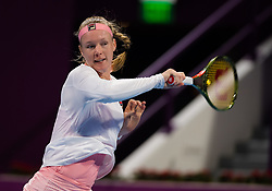 February 14, 2019 - Doha, QATAR - Kiki Bertens of the Netherlands in action during her quarter-final match at the 2019 Qatar Total Open WTA Premier tennis tournament (Credit Image: © AFP7 via ZUMA Wire)
