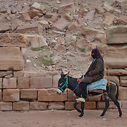Petra is a famous archaeological site in Jordan's southwestern desert.
