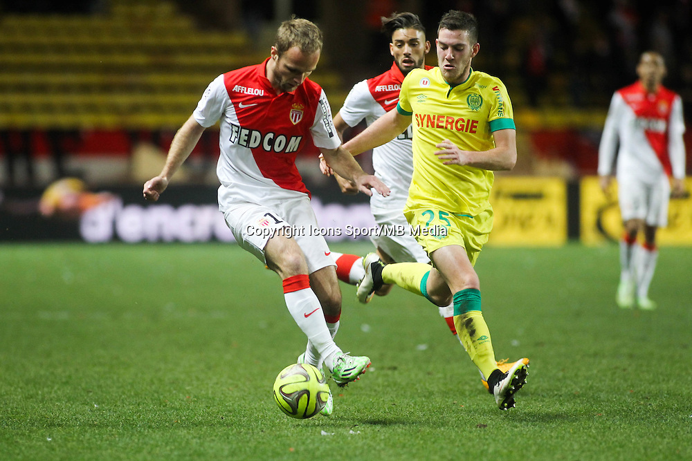 Valere GERMAIN / Jordan VERETOUT - 17.01.2015 - Monaco / Nantes - 21eme journee de Ligue 1 <br />Photo : Serge Haouzi / Icon Sport