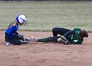 Middletown, New York - Minisink Valley plays Middletown in a varsity girls' softball game on April 7, 2014.
