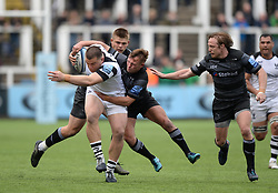 George Kloska of Bristol Bears (left) tries to shake off Sam Stuart of Newcastle Falcons - Mandatory by-line: Richard Lee/JMP - 18/05/2019 - RUGBY - Kingston Park Stadium - Newcastle upon Tyne, England - Newcastle Falcons v Bristol Bears - Gallagher Premiership Rugby