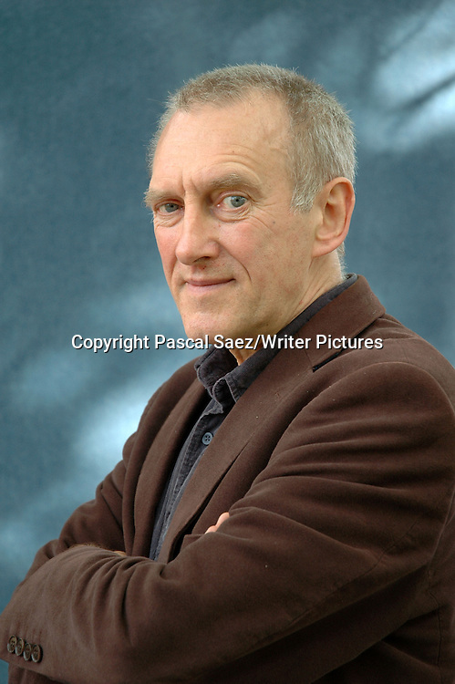 Scottish writer James Kelman at the Edinburgh International Book Festival 2007. <br /> <br /> Copyright Pascal Saez/Writer Pictures<br /> <br /> contact +44 (0)20 8241 0039<br /> sales@writerpictures.com<br /> www.writerpictures.com