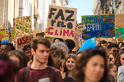 Student strike for climate demonstrators in Lisbon, Portugal, March 15th 2019