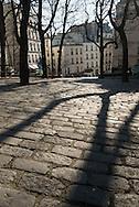 France. Paris. 18th district.  Emile Gaudeau square near place des Abbesses on Montmartre hill