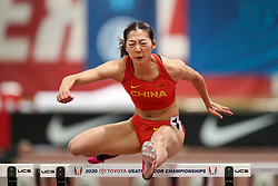 Don Kirby Invitational Indoor Track & Field<br /> Albuquerque, NM, Feb 14, 2020<br /> womens 60m hurdles heats, China