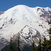 Closeup of a peak of Rainier - Mount Rainier National Park, WA