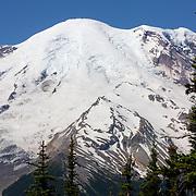 Closeup of a peak of Rainier - Mount Rainier National Park, WA