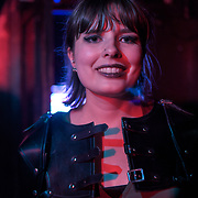 Sophie Dorman is a Vocalist of Pythia performs at The Lexington, Pentonville Rd, Islington,on 21 July 2019,  London, UK.