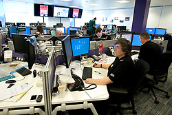 © Licensed to London News Pictures. 29/08/2012 . Manchester, UK . Silver command operation room in which the investigation in to the murder of David Short is based. Greater Manchester Police are offering a £50,000 cash reward to anyone who can give information that'll lead to the arrest of Dale Cregan and Anthony Wilkinson . The two men are wanted in connection with the death of David Short . Photo credit : Joel Goodman/LNP