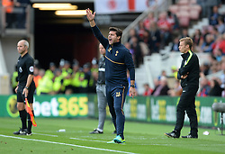 "Tottenham Hotspur manager Mauricio Pochettino on the touchline during the Premier League match at The Riverside Stadium, Middlesbrough. PRESS ASSOCIATION Photo. Picture date: Saturday September 24, 2016. See PA story SOCCER Middlesbrough. Photo credit should read: Anna Gowthorpe/PA Wire. RESTRICTIONS: EDITORIAL USE ONLY No use with unauthorised audio, video, data, fixture lists, club/league logos or ""live"" services. Online in-match use limited to 75 images, no video emulation. No use in betting, games or single club/league/player publications."