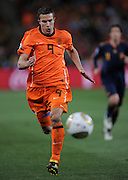 Robin Van Persie in action during the 2010 FIFA World Cup South Africa Final match between Netherlands and Spain at Soccer City Stadium on July 11, 2010 in Johannesburg, South Africa.