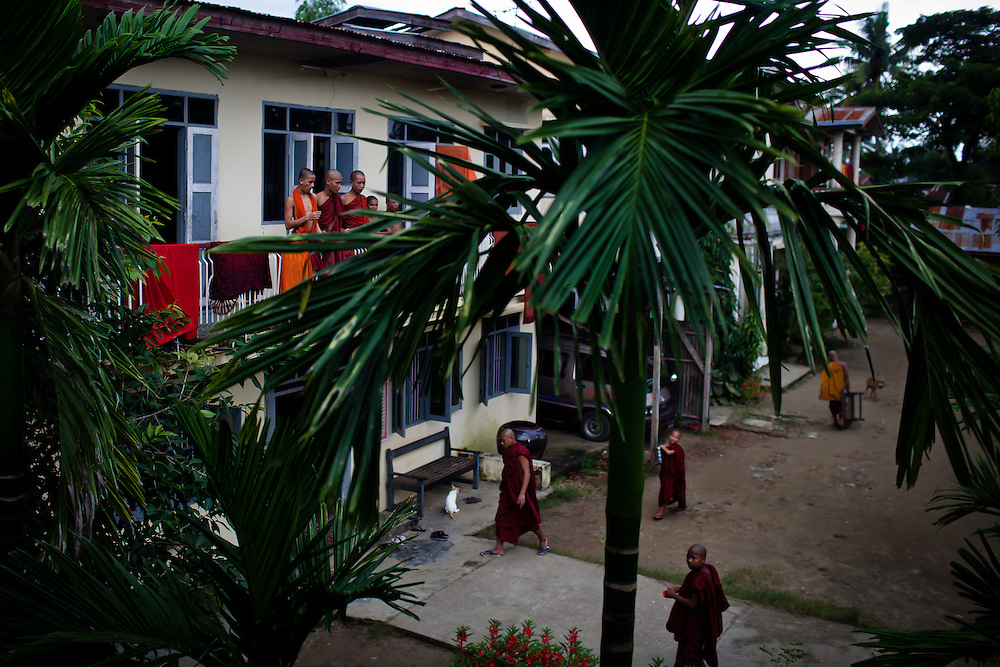 Just after lunch, the monks have a few hours of free time before begining meditation and study in the early afternoon.