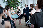 NATALIA KREMEN; KSENIA OVSYANICK; THE DUKE OF YORK WITH BALLET DANCERS. English National Ballet Summer party.  All proceeds from the Summer Party go towards English National Ballet. The Orangerie. Kensington Palace. London. 29 June 2011. <br /> <br />  , -DO NOT ARCHIVE-© Copyright Photograph by Dafydd Jones. 248 Clapham Rd. London SW9 0PZ. Tel 0207 820 0771. www.dafjones.com.