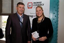 29/10/2015<br /> IAB Conference at the Guinness Storehouse.<br /> (l-r):<br /> Ian Byrne (3Digital) and <br /> Celine Heemskerk (Heneghan PR).