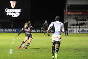 Jaco van der Walt converts penalty during the Guinness Pro 14 2017_18 match between Edinburgh Rugby and Southern Kings at Myreside Stadium, Edinburgh, Scotland on 5 January 2018. Photo by Kevin Murray.