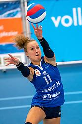 26-10-2019 NED: Talentteam Papendal - Sliedrecht Sport, Ede<br /> Round 4 of Eredivisie volleyball - Ana Rekar #11 of Sliedrecht Sport