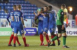 Junior Morias of Peterborough United celebrates his goal with team-mates - Mandatory by-line: Joe Dent/JMP - 13/02/2018 - FOOTBALL - ABAX Stadium - Peterborough, England - Peterborough United v Scunthorpe United - Sky Bet League One