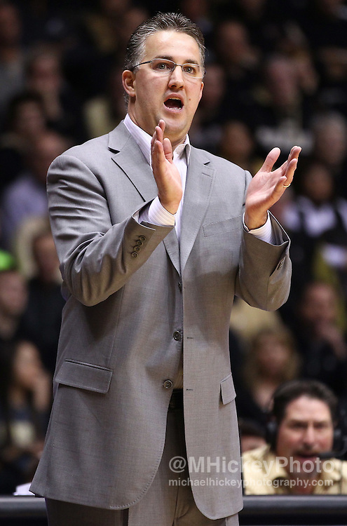 Feb. 12, 2012; West Lafayette, IN, USA; Purdue Boilermakers head coach Matt Painter on the sidelines against the Northwestern Wildcats at Mackey Arena. Purdue defeated Northwestern 87-77. Mandatory credit: Michael Hickey-US PRESSWIRE