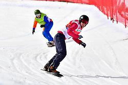 BUNSCHOTEN Lisa, SB-LL2, NED, FINA PAREDES Arstrid, ESP, Snowboard Cross at the WPSB_2019 Para Snowboard World Cup, La Molina, Spain