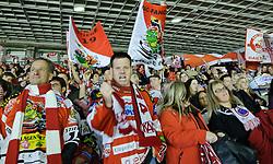 24.10.2010, Eisstadion Liebenau, Graz, AUT, EBEL, Graz 99ers vs KAC, im Bild ein Feature mit Fans des KAC, Jubel, Torjubel, EXPA Pictures © 2010, PhotoCredit: EXPA/ S. Zangrando