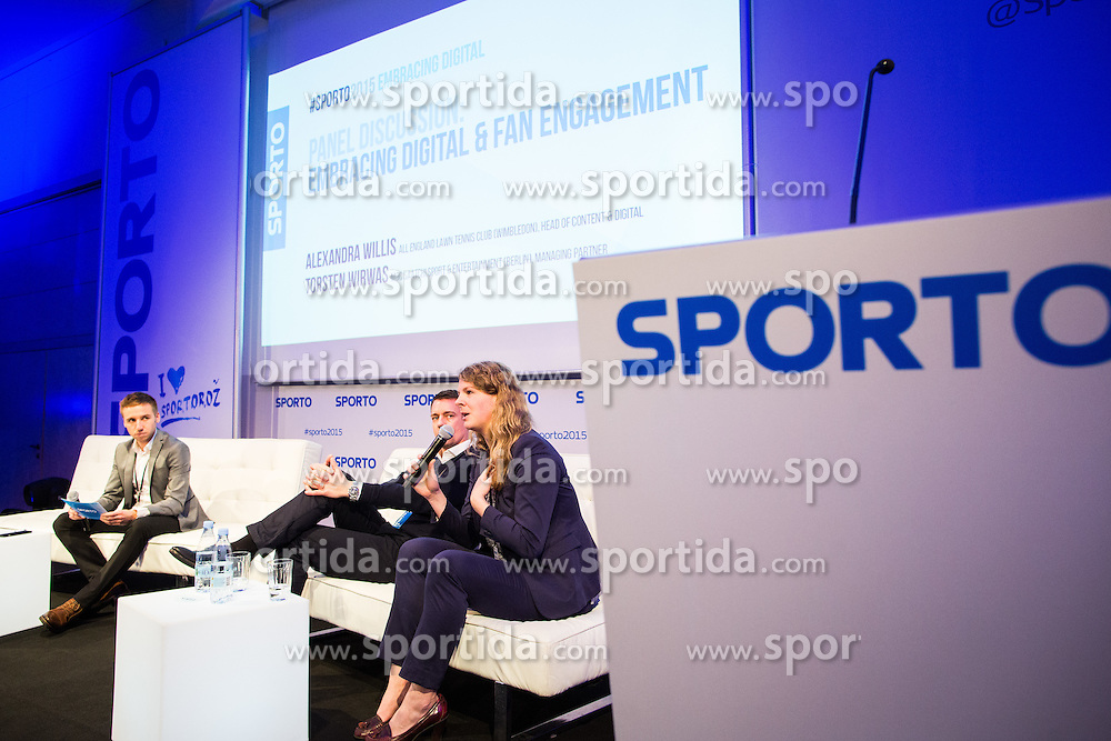 Alexandra Willis (All England lawn tennis club - Wimbeldon) and Torsten Wirwas (M&C Saatchi sport & Entertainment) during Sports marketing and sponsorship conference Sporto 2015, on November 19, 2015 in Hotel Slovenija, Congress centre, Portoroz / Portorose, Slovenia. Photo by Vid Ponikvar / Sportida