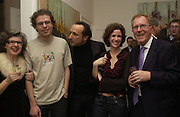 Aaron van Erp, Joe La Placa, Mollie Dent-Brocklehurst and Henk Pijenburg, Mollie Dent-Brocklehurst, Joe La Placa and Henk Pijnenburg host an evening salon featuring the paintings of Aaron van Erp. Conway St. London. 9 December 2005. Decembe 8  2005.ONE TIME USE ONLY - DO NOT ARCHIVE  © Copyright Photograph by Dafydd Jones 66 Stockwell Park Rd. London SW9 0DA Tel 020 7733 0108 www.dafjones.com