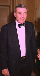 Former Test Cricket umpire DICKIE BIRD, at a reception in London on 5th February 1998.MFF 3 MO