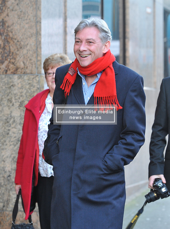 New Scottish Labour leader Richard Leonard arrives for the Labour NEC meeting in Glasgow with newly elected councilllor Martin Lennon.<br /> <br /> © Dave Johnston/ EEm