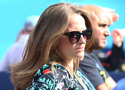June 19, 2018 - United Kingdom - Kim Murray (Sears) wife of Andy Murray (GBR).during Fever-Tree Championships 1st Round match between Nick Kyrgios (AUS) against Andy Murray (GBR) at The Queen's Club, London, on 19 June 2018  (Credit Image: © Kieran Galvin/NurPhoto via ZUMA Press)