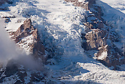 Detail of the Nisqually Glacier on Mount Rainier from Glacier Vista, Mount Rainier National Park, Washington
