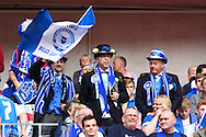 Peterborough United fans before the Johnstone's Paint Trophy Final match at Wembley Stadium, London<br /> Picture by David Horn/Focus Images Ltd +44 7545 970036<br /> 30/03/2014