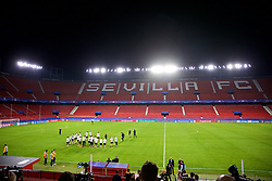 SEVILLE, SPAIN - Monday, November 20, 2017: Liverpool players during a training session ahead of the UEFA Champions League Group E match between Sevilla FC and Liverpool FC at the Estadio Ramón Sánchez Pizjuán. (Pic by David Rawcliffe/Propaganda)