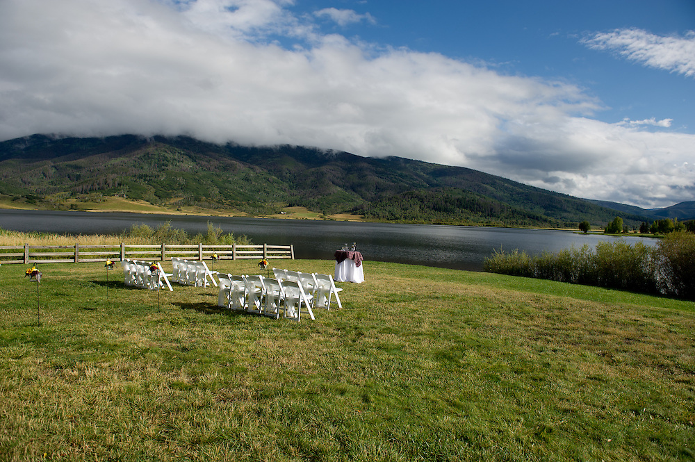 Carlyle Bradley and Michael Nann are married in Steamboat Springs, Saturday, Sept. 17, 2011. Photo by Josh Couper